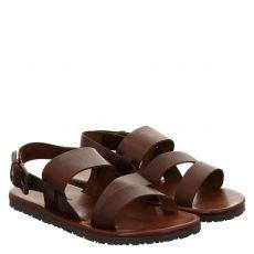 Fernando Strappa Glattleder-Sandale in braun für Herren