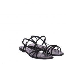 Kennel & Schmenger, Jordan, Veloursleder-Sandalette in schwarz für Damen