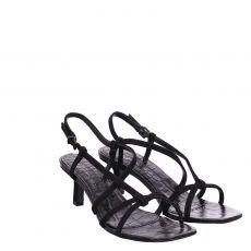 Kennel & Schmenger, Missy, Veloursleder-Sandalette in schwarz für Damen