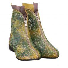 Papucei kurzer Textil-Stiefel in grün für Damen