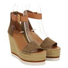 See By Chloé Veloursleder-Sandalette in braun für Damen