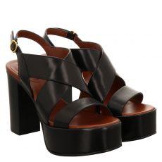 See By Chloé Glattleder-Sandalette in schwarz für Damen