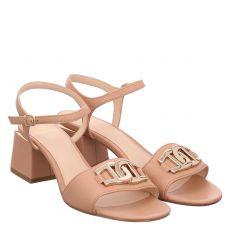 Aigner Glattleder-Sandalette in braun für Damen
