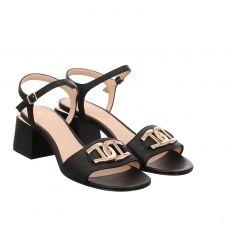 Aigner Glattleder-Sandalette in schwarz für Damen