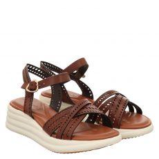 Tamaris Glattleder-Sandalette in braun für Damen