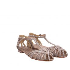 Alma En Pena Textil-Ballerina in beige für Damen