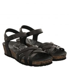 Panama Jack Glattleder-Sandalette in schwarz für Damen