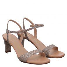 Unisa Textil-Sandalette in gold für Damen
