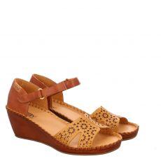Pikolinos Glattleder-Sandalette in braun für Damen