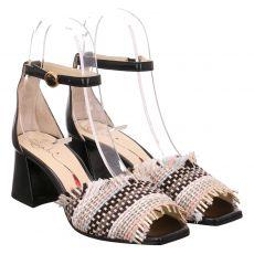 Fabi Textil-Sandalette in schwarz für Damen
