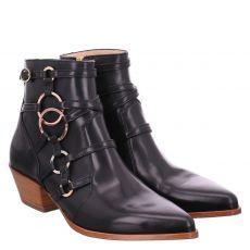 Camerlengo kurzer Glattleder-Stiefel in schwarz für Damen