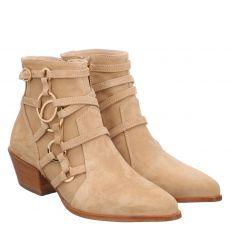 Camerlengo kurzer Veloursleder-Stiefel in beige für Damen