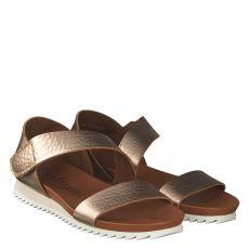 Pedro Garcia Glattleder-Sandalette in gold für Damen