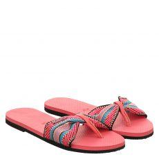 Havaianas, Hav.you St.tropez, Textil-Pantolette in pink für Damen