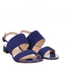 Högl Nubukleder-Sandalette in blau für Damen
