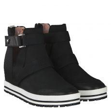Marc Cain kurzer Textil-Stiefel in schwarz für Damen