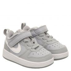 Nike, Court Borough Low 2, Glattleder-Halbschuh in grau für Mädchen