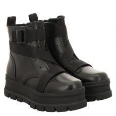 Ugg, Sid, kurzer Glattleder-Stiefel in schwarz für Damen