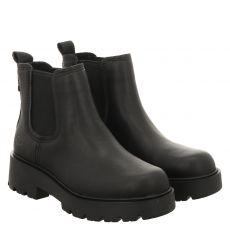 Ugg, Markstrum, kurzer Glattleder-Stiefel in schwarz für Damen