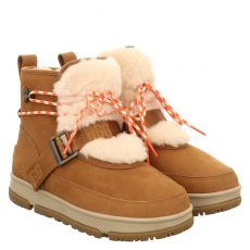 Ugg, Classic Weather Hiker, warmer Nubukleder-Stiefel in braun für Damen