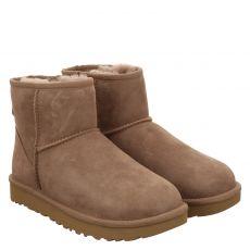Ugg, Mini Classic Ii, warmer Veloursleder-Stiefel in braun für Damen