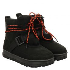 Ugg, Classic Weather Hiker, warmer Nubukleder-Stiefel in schwarz für Damen