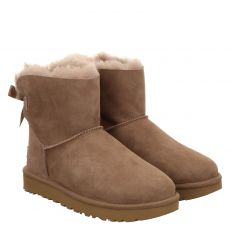 Ugg, Mini Bailey Bow Ii, warmer Veloursleder-Stiefel in braun für Damen