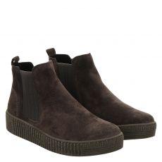 Gabor, Grau, kurzer Veloursleder-Stiefel in anthrazit für Damen