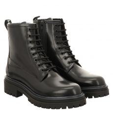 Hugo Boss, Alpha Bootie-c, kurzer Glattleder-Stiefel in schwarz für Damen