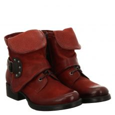 , Mjusnorton, kurzer Nubukleder-Stiefel in rot für Damen