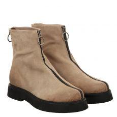 , Mjustriple, kurzer Veloursleder-Stiefel in grau für Damen