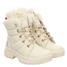 Panama Jack warmer Glattleder-Stiefel in weiß für Damen