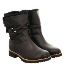Panama Jack, Igloo, kurzer Fettleder-Stiefel in schwarz für Damen
