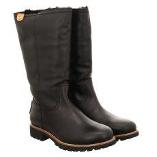 Panama Jack, Igloo, warmer Fettleder-Stiefel in schwarz für Damen