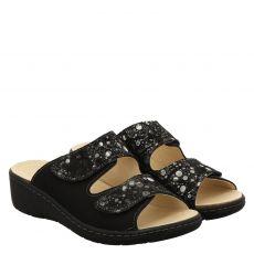 Portina Veloursleder-Fußbettschuh in schwarz für Damen