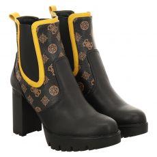 Guess kurzer Kunstleder-Stiefel in schwarz für Damen