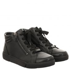 Ara, High Soft, kurzer Glattleder-Stiefel in schwarz für Damen