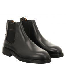 Gant, Flairvill, eleganter Glattleder-Stiefel in schwarz für Herren