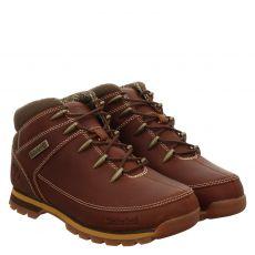 Timberland, Euro Sprint, sportiver Fettleder-Stiefel in braun für Herren