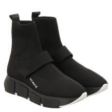 Vic Matié kurzer Textil-Stiefel in schwarz für Damen