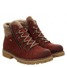Remonte, Rot, kurzer Nubukleder-Stiefel in bordeaux für Damen