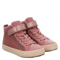 Geox, Rot, Kunstleder-Halbschuh in pink für Mädchen