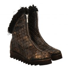 Papucei kurzer Glattleder-Stiefel in braun für Damen