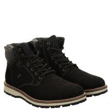 Rieker sportiver Nubukleder-Stiefel in schwarz für Herren