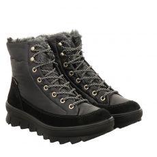Legero kurzer Textil-Stiefel in schwarz für Damen
