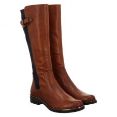 Caprice, Braun, hoher Glattleder-Stiefel in cognac für Damen