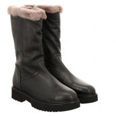 Fraipe kurzer Glattleder-Stiefel in schwarz für Damen