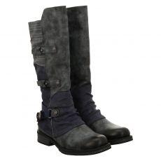 Rieker hoher Kunstleder-Stiefel in blau für Damen