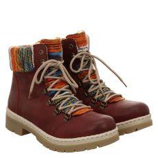 Rieker warmer Kunstleder-Stiefel in rot für Damen