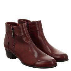 Fernando Strappa, Rot, kurzer Glattleder-Stiefel in bordeaux für Damen